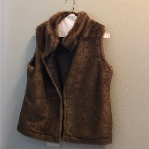 Faux Fur Vest with Pockets.  Super Cozy and Warm.